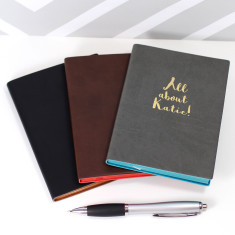 Personalised All About PU Leather Notebook