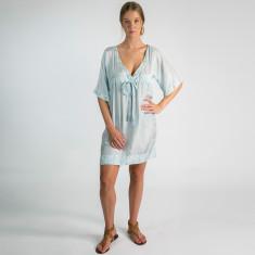 Rendezvous silk dress in light blue
