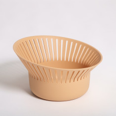 Ruff Bread Basket or Colander in Terracotta Colour