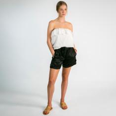 Chrissy silk shorts in black