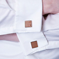 Personalised Initial and Geometric Cufflinks