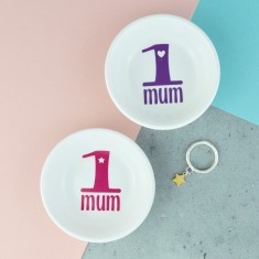 Number One Mum Porcelain Ring Dish