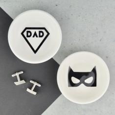 Cufflink, Jewellery & Coin Dish - Super Hero Dad