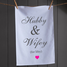 Hubby & Wifey Tea Towel
