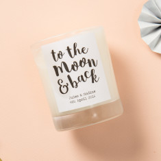 Personalised To The Moon And Back Scented Candle