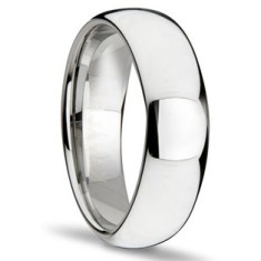 Classic smooth tungsten ring