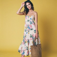 Blooms floral maxi dress