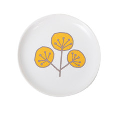 Ceramic Jewellery Plate - Leaf Graphic