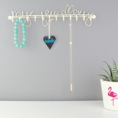 My Jewellery Cream Wire Necklace Hanger & Hooks