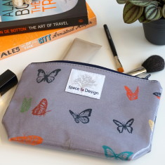 Midnight butterfly makeup bag