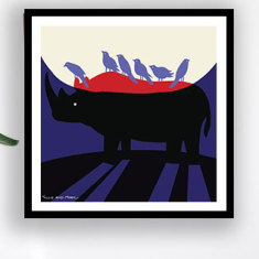 He was the last rhino but he was not alone Limited Edition Art Print