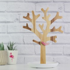 Wooden Jewellery Tree & Trinket Dish (Two Colours)