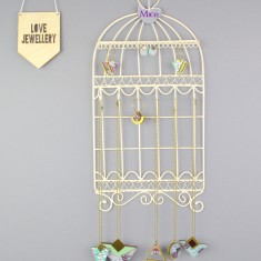 Birdcage Jewellery Holder And Necklace Hooks