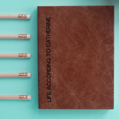 Sideline personalised leather journal