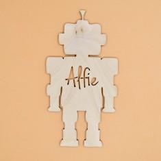 Personalised Kids' Robot Bedroom Door Sign