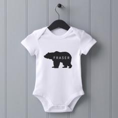 Personalised Baby Bear Baby Grow