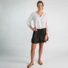 Katie silk skirt in steel