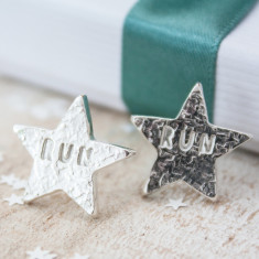 Silver Star Run Earrings
