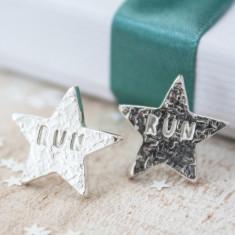 Silver Star Run Earrings