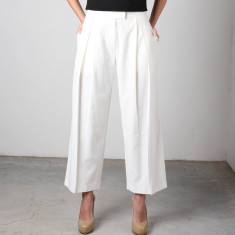 Patnos Wide Leg Ankle Grazer Pants