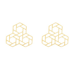 Triple Hex Geometric Studs