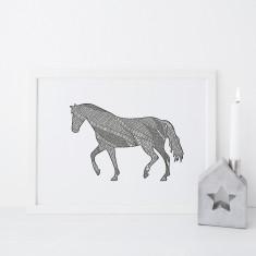Horse drawing print