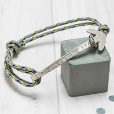 Men's personalised adventure bracelet