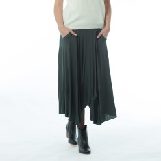 Dagny green skirt
