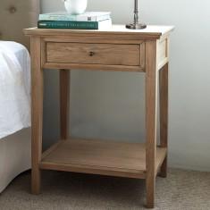 Oak one drawer bedside table