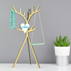 Personalised Wooden Jewellery Stand