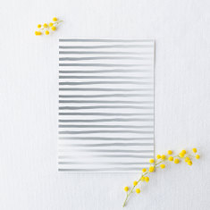 Gold or silver foil stripes greeting card