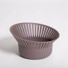 Ruff Bread Basket or Colander in Eggplant