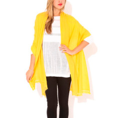 Moye cashmere stole in honey mustard