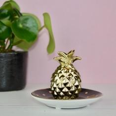 Personalised Black Pineapple Jewellery, Ring & Trinket Dish