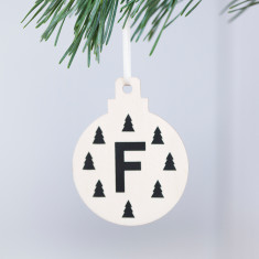Personalised Christmas Woodland Bauble