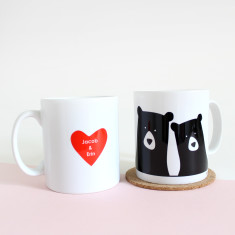 Bear Couple, Personalised Mug