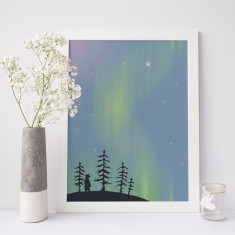 Limited Edition Northern Lights Bear Print