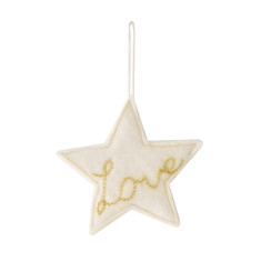 Love star ornament