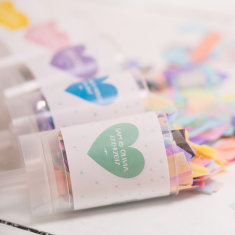 Personalised Wedding Heart Confetti Pop
