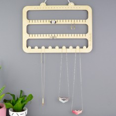 Earring & Necklace Jewellery Storage Hanger, Hooks & Organiser