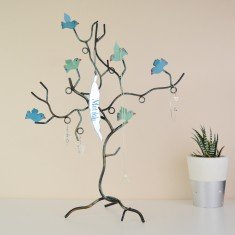 Blue Bird Jewellery Tree