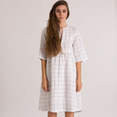 Willow Dress in Ivory Check