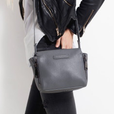 The Ascendants leather bag in grey pebble