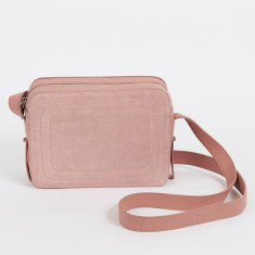 Dylan dusty rose crossbody bag with built in phone charger