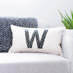 Personalised Geometric Cushion