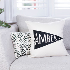 Personalised Pennant Flag Nursery Cushion
