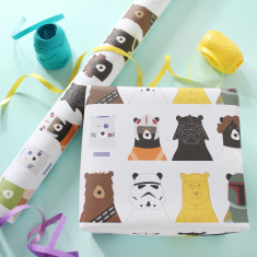 Star Bears Wrapping Paper (Set Of Two Sheets)