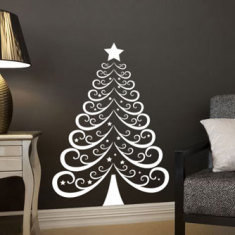 Christmas tree 2 wall decal