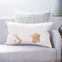 Personalised Country Destination Map Cushion