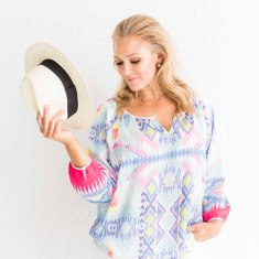 Resort Summer Blouse in blue